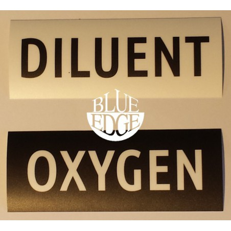 Oxygen and Diluent sticker for CCR